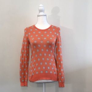 Anthropologie Moth Sweater Polka Dot Size Small